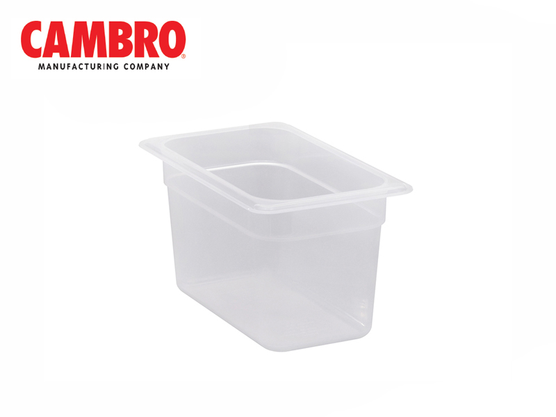 TRANSLUCENT POLYPROPYLENE FOOD PAN 1/4  DEPTH 150 MM , 3.7 L