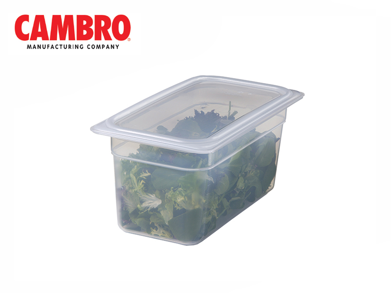 TRANSLUCENT POLYPROPYLENE FOOD PAN 1/4 DEPTH 100 MM , 2.5 L