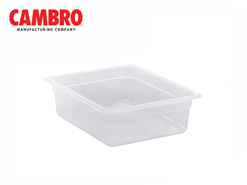 TRANSLUCENT POLYPROPYLENE FOOD PAN 1/2 DEPTH 100 MM , 5.9 L