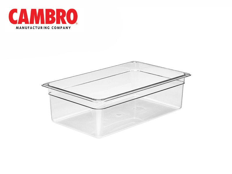 CAMWEAR POLYCARBONATE FOOD PAN 1/1 x 150 MM , CLEAR