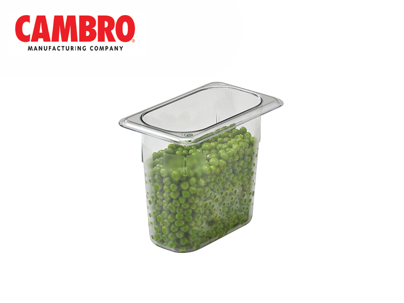 CAMWEAR POLYCARBONATE FOOD PAN 1/9 x 150 MM, CLEAR