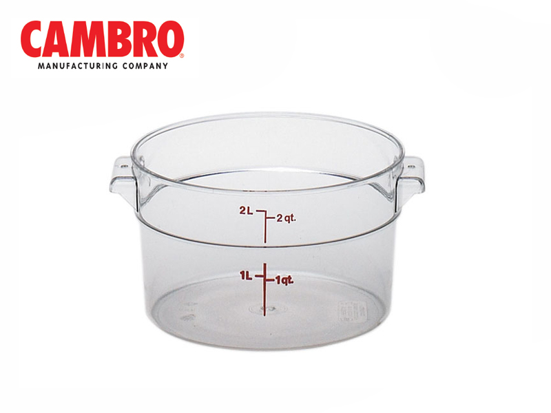 CAMWEAR POLYCARBONATE ROUND STORAGE CONTAINER, CLEAR