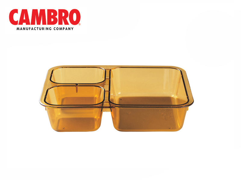 COMPARTMENT HEAT RESISTANT PLASTIC, AMBER