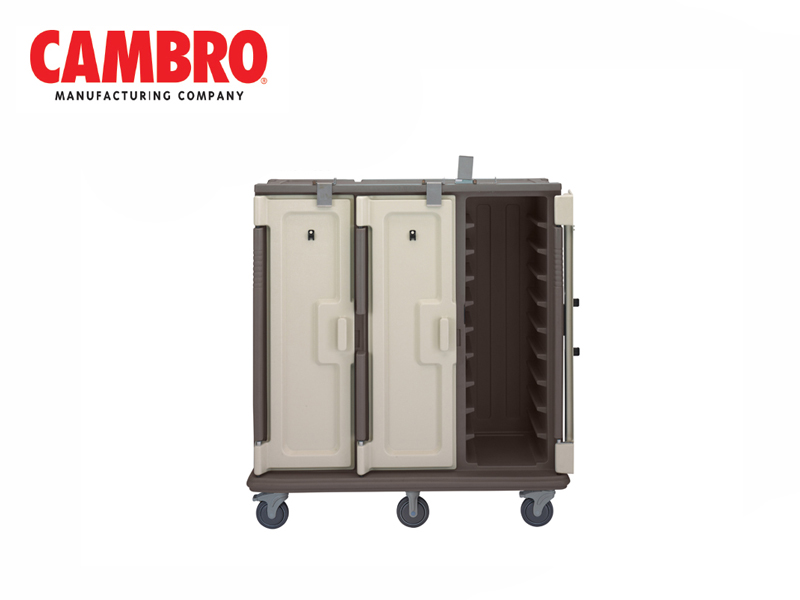 MEAL DELIVERY CARTS FOR TRAY SERVICE, DARK BROWN