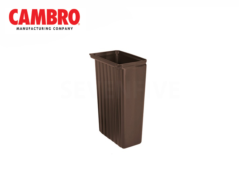 TRASH CONTAINER FOR SERVICE CARTS, DARK BROWN