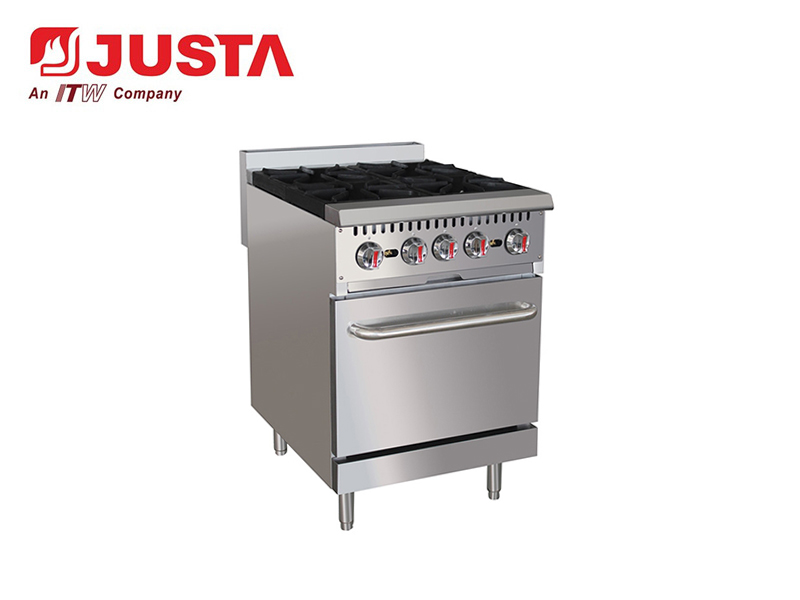 GAS 4-BURNER W/OVEN (WITHOUT REAR PLATE)