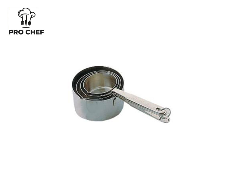 S/S 4 PC HEAVY MEASURING CUP SET