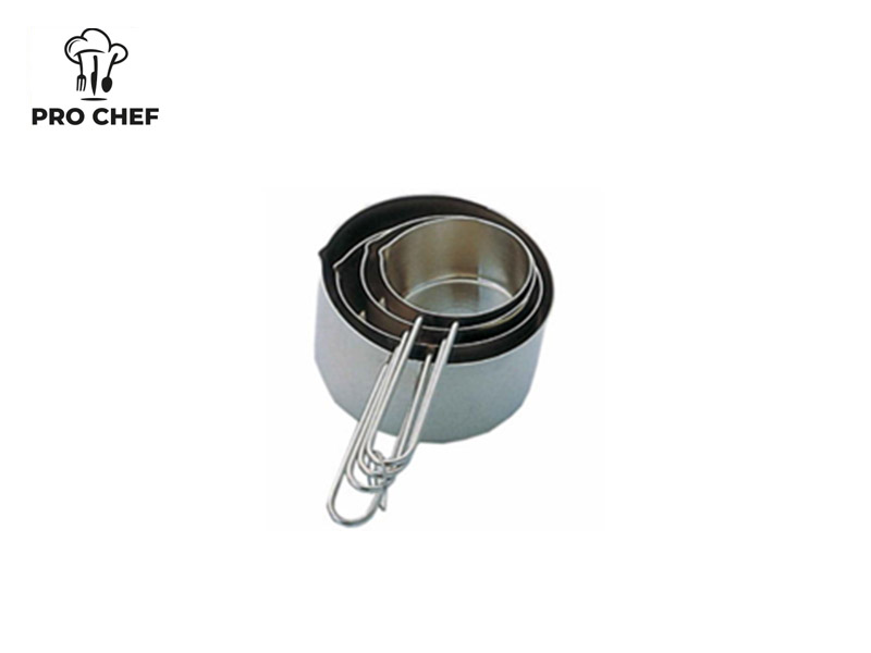 S/S 4 PC MEASURING CUP SET WIRE HANDLE
