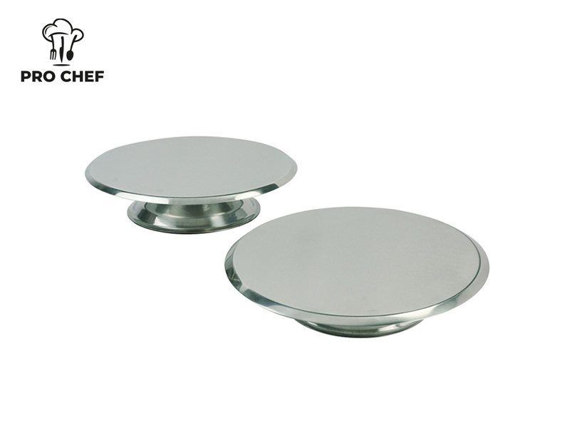 S/S CAKE STAND SIZE 21 x 4.5 CM